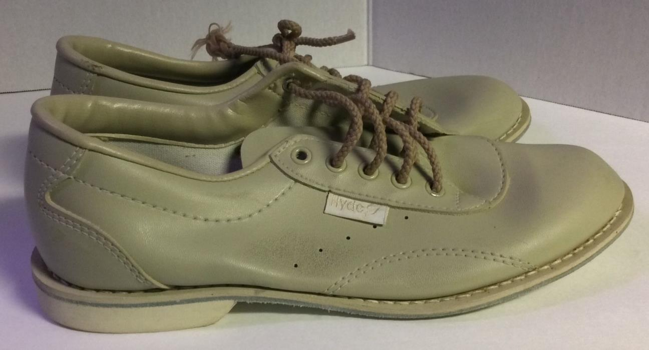 Mens Bowling Shoes Hyde Vintage  Beige shoes men 7.5 M medium Made in USA