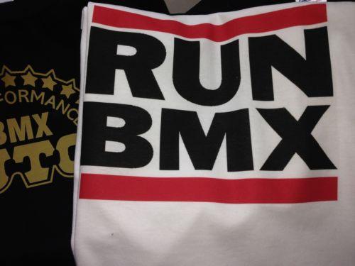 Old School Bmx T-Shirt Xl RUN BMX Haro,Master,Sport,Dyno,Redline,Kuwahara,