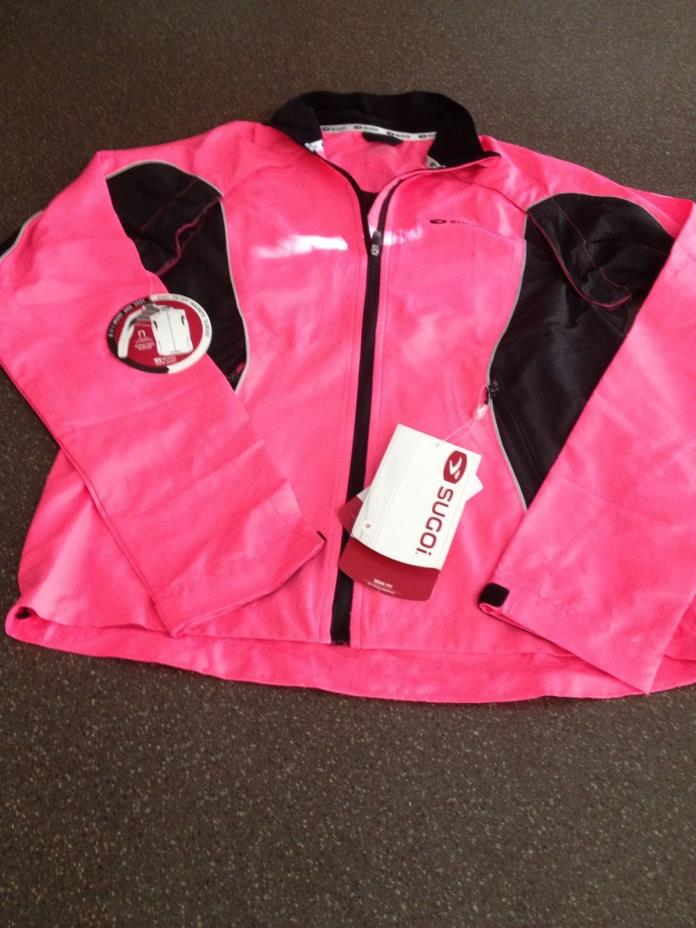 Sugoi Women's Small Versa Cycling Jacket W/ Removable Sleeves Super Pink NWT