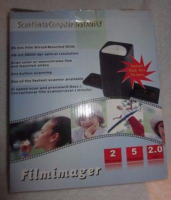 Film Scanner to Computer - Converts Negatives & Slides to Digital Images