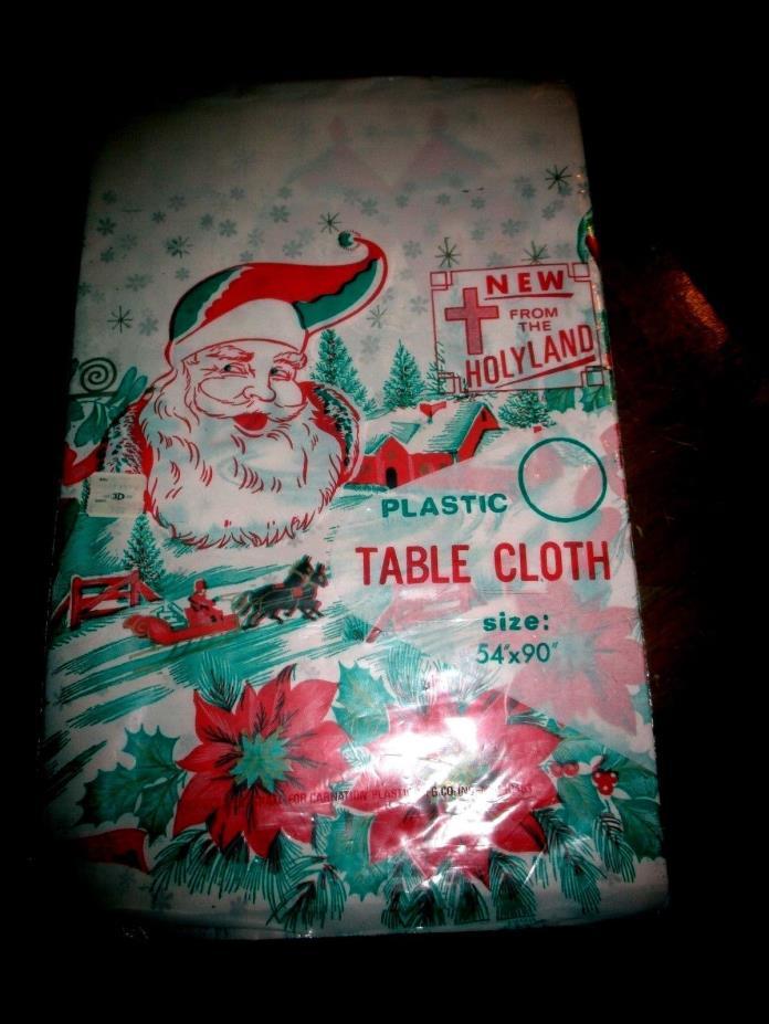 VTG.1960S PLASTIC TABLE COVER 54