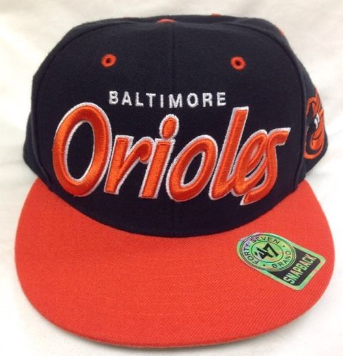 Baltimore Orioles 47 Brand Cap Flatbill Hat Snapback MLB Retro