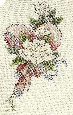 Glorious Gardenias  cross stitch pattern from magazine