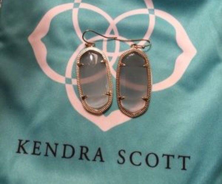 Kendra Scott Elle Earrings Slate Gold