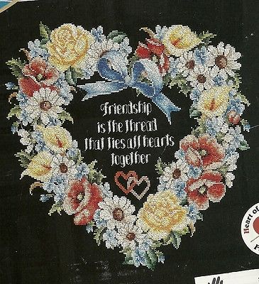 Floral Heart cross stitch pattern from magazine