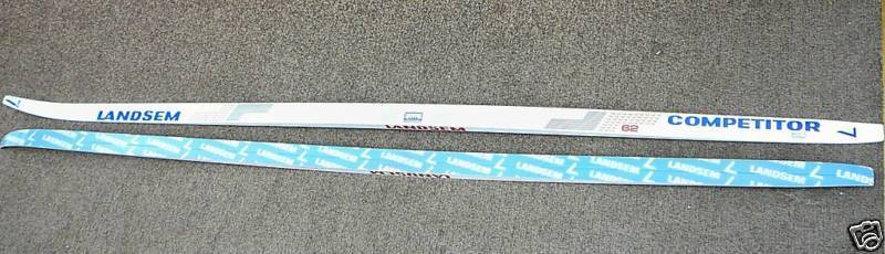 NEW NOS Vintage 80's Landsem Competitor Air Channeled Skate Skis