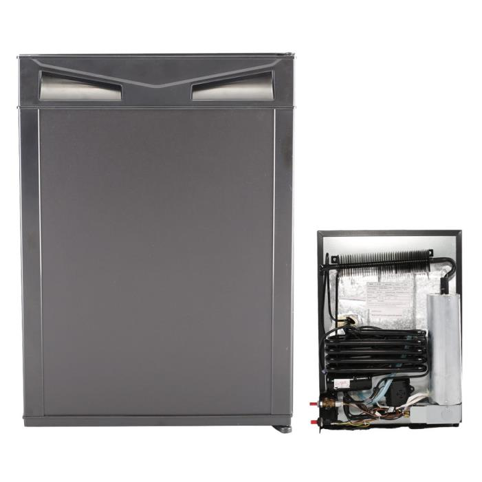 SMAD AC DC LPG Compact Refrigerator Propane Gas RV Fridge 1.4 cu ft Cooler Black