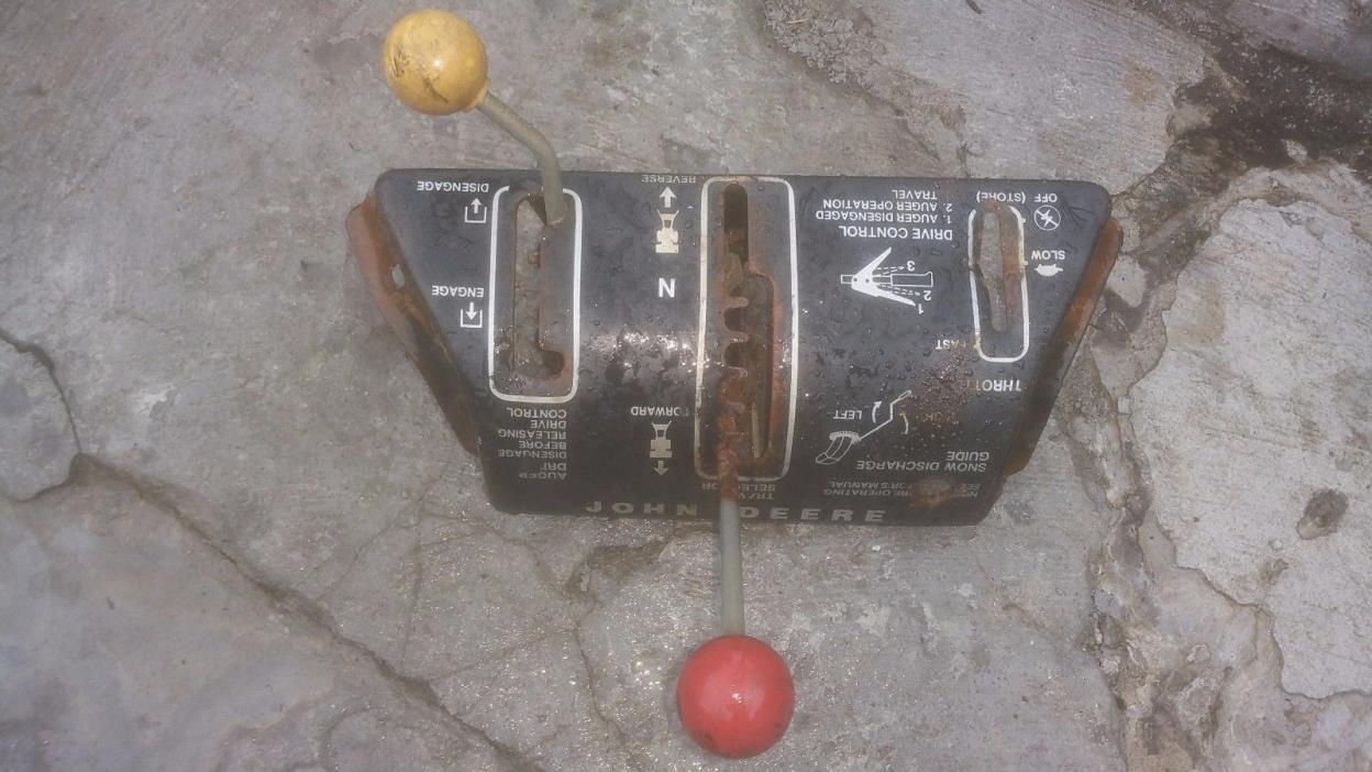 John Deere AM37000 AM33232 726 826 Snowblower Control Console Throttle  Panel