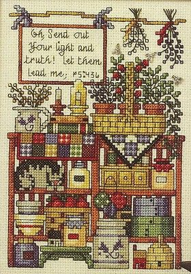 Basket Pantry cross stitch pattern from magazine   Cross Country Stitching