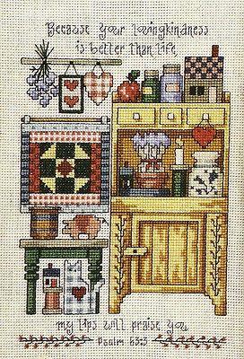 Kitchen Hutch cross stitch pattern from magazine   Cross Country Stitching