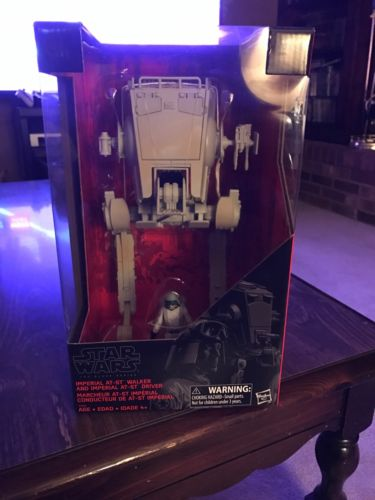 Star Wars 2017 Black Series AT-ST Imperial Walker With Driver Exclusive MISB