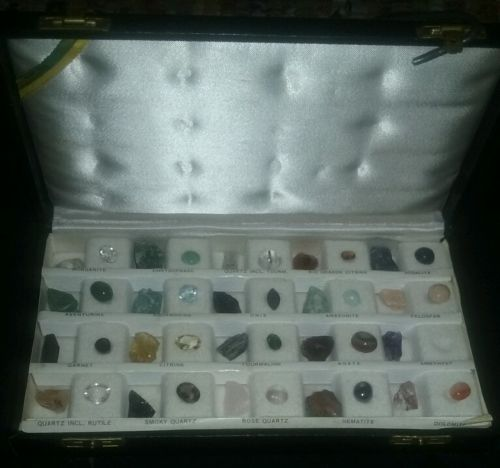 HUGE MIXED GEMSTONE LOT Antique Collection With Box