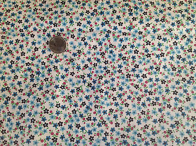 Vintage Fabric Calico Cotton 4 yards 36 inches Wide