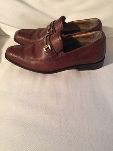 Vionic 45 Monroe Brown Leather Ortho Dress Casual Loafers Shoes Slip On Sz 11