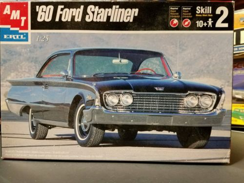AMT 1960 FORD GALAXIE STARLINER 1/25 Mint Unbuilt OPEN 60
