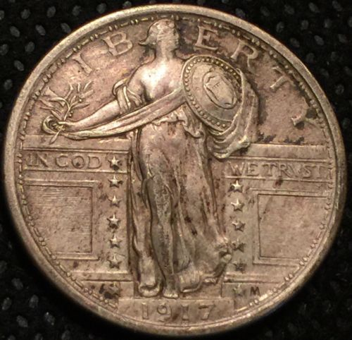 1917 TYPE 1 STANDING LIBERTY QUARTER