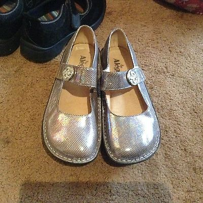 Alegria luster iridescent Paloma 522 Mary Jane shoes sz 38 8 8.5 8 1/2 beautiful