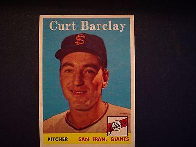 1958 Topps Curt Barclay San Francisco Giants #21 Baseball Card