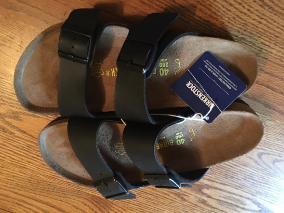 New Birkinstock Arizona Size 40 (L9/M7) Regular Width Black Sandals