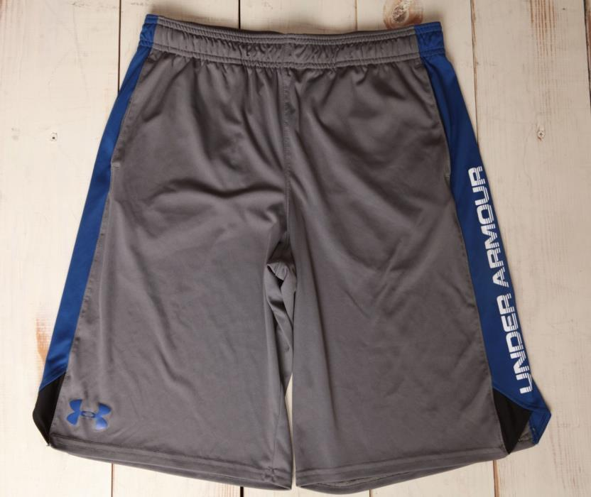 EUC Boy's YXL Youth  Gray Blue Athletic Gym Shorts