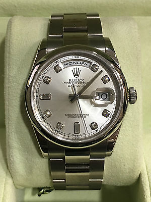 ROLEX PRESIDENT DAY-DATE 18K WHITE GOLD 118209