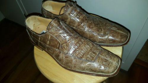 David Eden TAUPE (beige tan) CROCODILE (alligator) 13 men's  shoes FREE SHIPPING