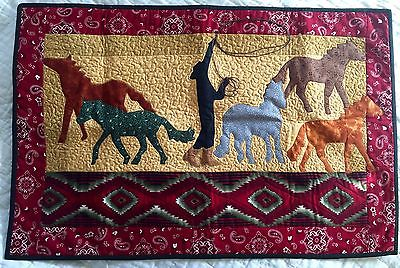 Quilted Applique Wall Hanging Table Topper -31