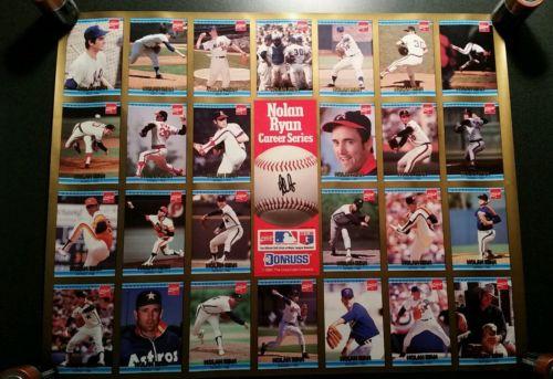 Vintage 1992 Nolan Ryan Career Series Donruss Baseball Cards Poster Coca Cola