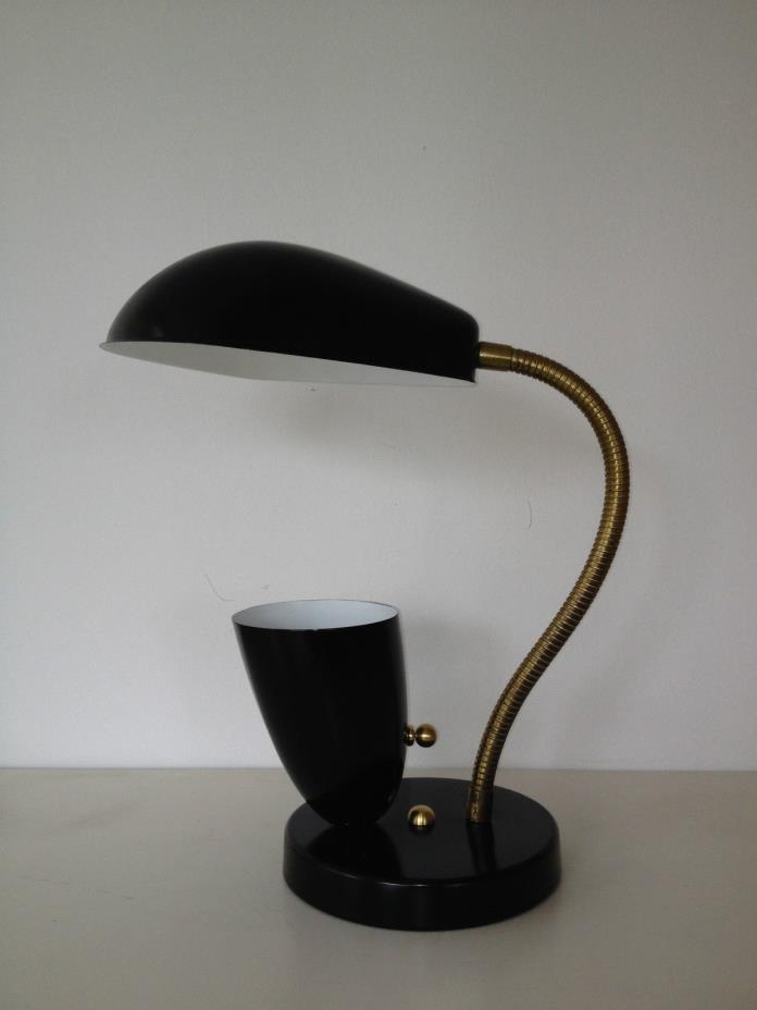 BLACK Stilnovo ARTELUCE Eames GRETA GROSSMAN Cobra TABLE LAMP Mid Century Deco