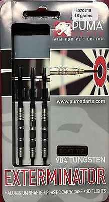 Rare Puma Exterminator 18g Soft Tip Darts 90% Tungsten Discontinued FREE Ship