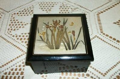 VINTAGE CHIC JAPAN CHOKIN METAL MUSIC BOX SHABBY