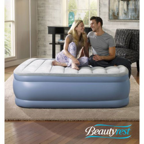 Simmons Beautyrest Hi Loft Air Bed Mattress Express Pump Hurricane Shelter Sport