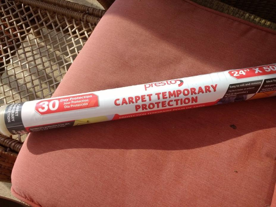 TEMPORARY CARPET PROTECTION FILM  24 in x 50 ft USA NEW!!