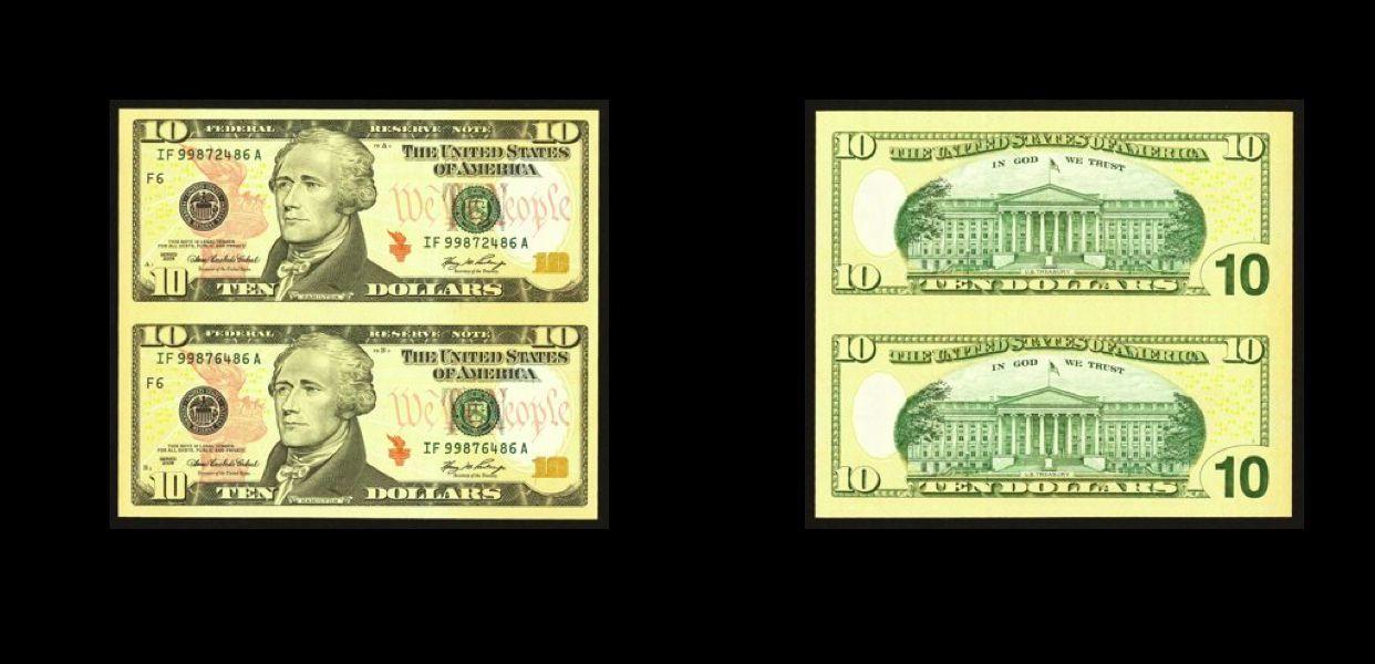ATLANTA Fr. 2040-F $10 2006 Federal Reserve Notes. Uncut Pair. GEM Crisp Uncirc