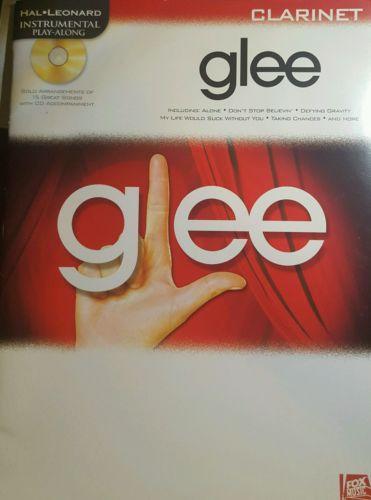 GLEE (HAL LEONARD) CLARINET PLAY ALONG SHEET MUSIC SONG BOOK + CD NEW!!