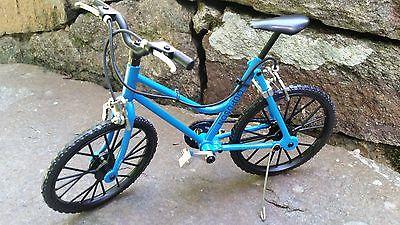 Miniature Blue Womans Mt Bicycle 1/10 scale