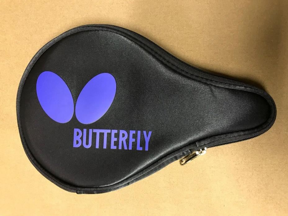 Butterfly Logo Blue B Case Table Tennis Ping Pong Racket Paddle Case