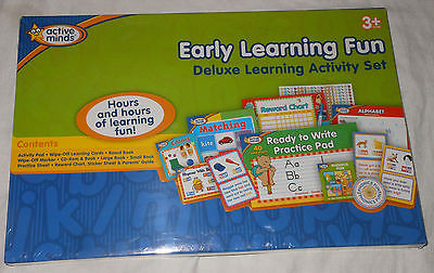 Active Minds Deluxe Early Learning Activity Set Phonics Wipe Off Cards Reading