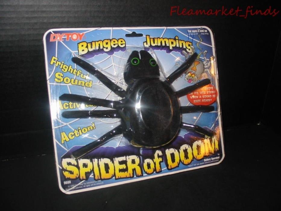 Bungee Jumping SPIDER of DOOM 1995 Halloween Decoration Animated