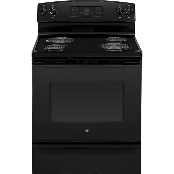 GE 5.0 cu. ft. Electric Range with Self-Cleaning Oven in Black NEW N/B jb255djbb