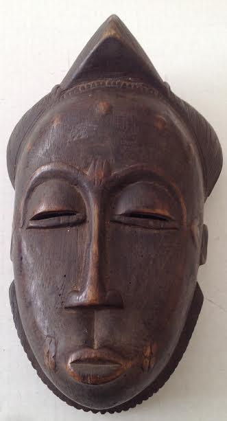 AFRICA - IVORY COAST BAULE TRIBAL MASK