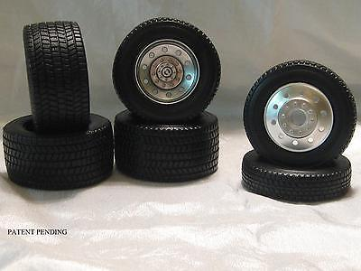 1/16 SCALE RUBBER BIG RIG FRONT TIRES & REAR TIRES-AGGRESSIVE TREAD