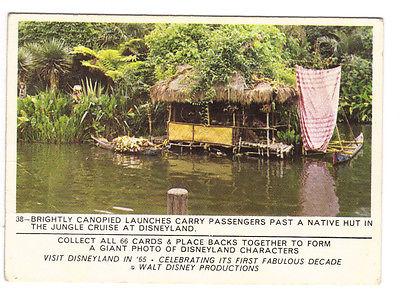 1965 Disneyland Card #38 Jungle Cruise Puzzleback