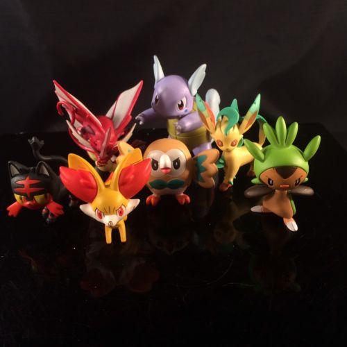 Pokemon Action 7 Figure Lot TOMY