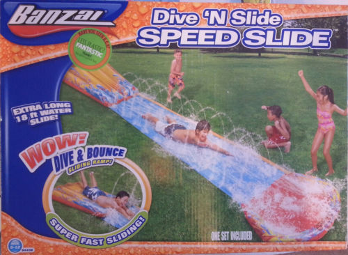 Banzai Dive 'N Slide Speed Water Slide Bounce 18 ft x 28