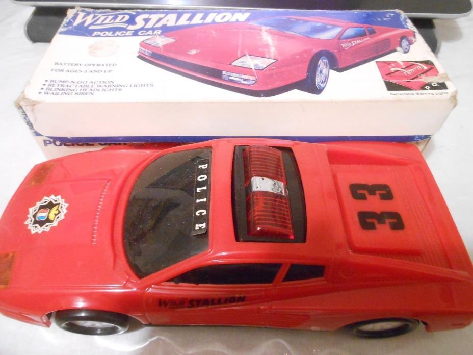 MIN YIN TOYS WILD STALLION POLICE CAR WITH BOX SOUNDS  MY8667