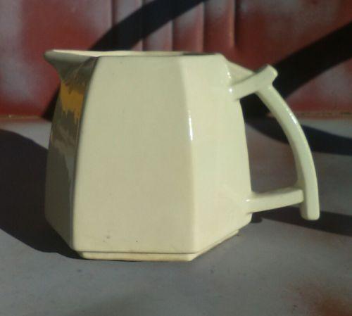 Unusual! Art Deco Octogon McCoy Milk/Cream Pitcher ~ 5 3/4