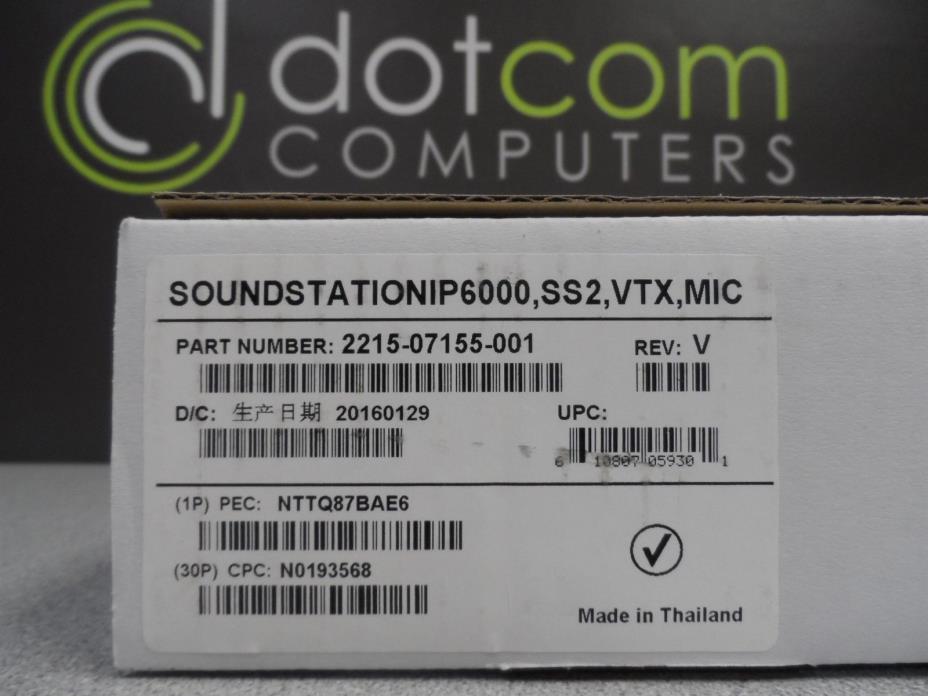 Polycom Soundstation VTX-1000 2201-07155-601-001 External Mics IP-6000 VTX 1000