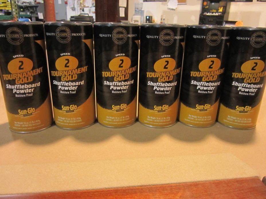 Sun-Glo Shuffleboard Powder #2 Tournament Gold 6 Pack w/ FREE Shipping