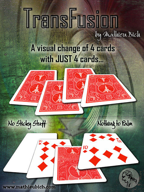 Transfusion 4 Card Magic Packet Trick Mathieu Bich